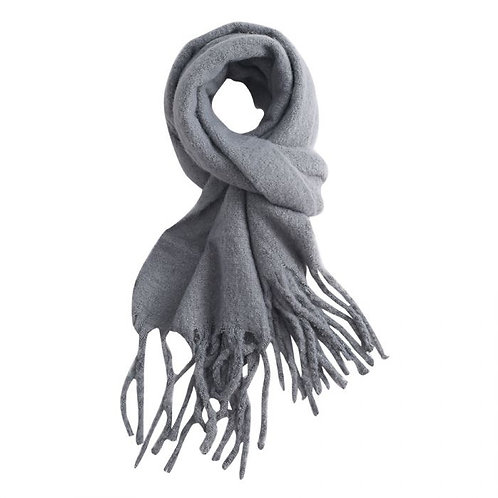 Charcoal Grey Winter Scarf