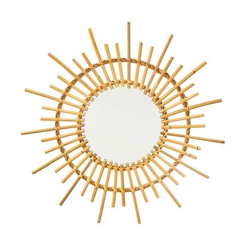 Rattan Sunburst Mirror