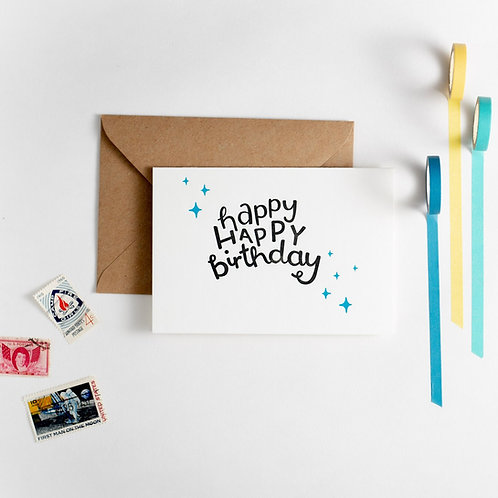 'Happy Happy Birthday' Card