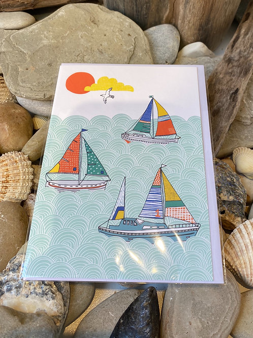 Sailing Boats Greetings Card