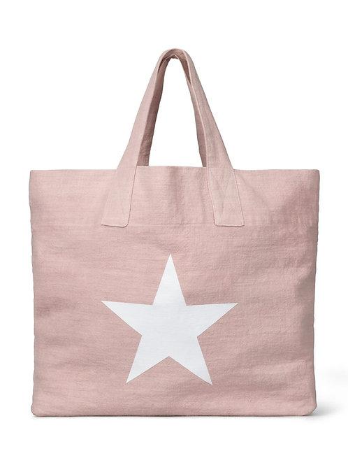 Chalk Shopper Bag - Pink/White Star