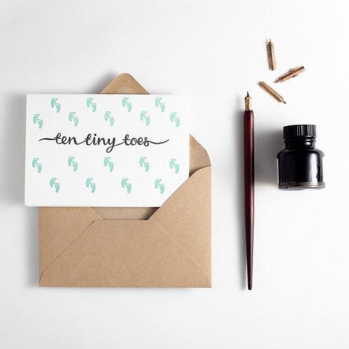 'Ten Tiny Toes' Card