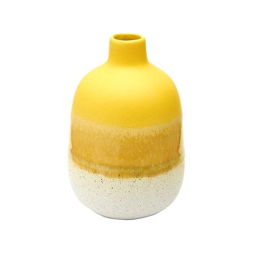 Mustard Yellow Ombre Glaze Vase