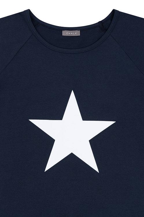 Chalk Darcey Top - Navy/White Star