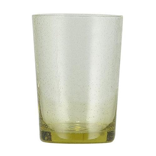 Handmade Yellow Glass Tumbler