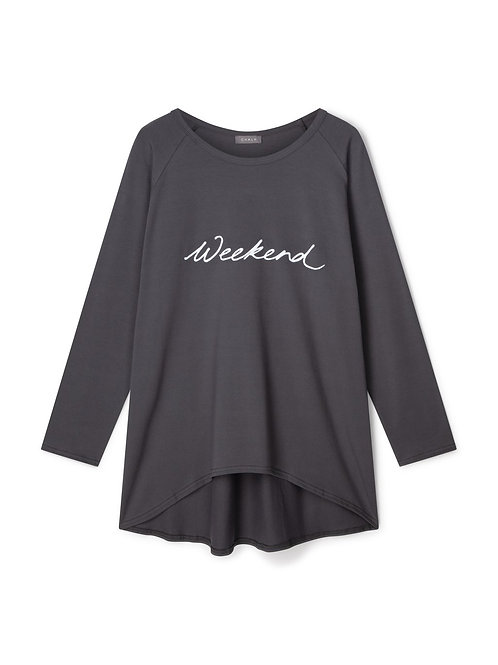 Chalk Robyn Top - Charcoal/Weekend