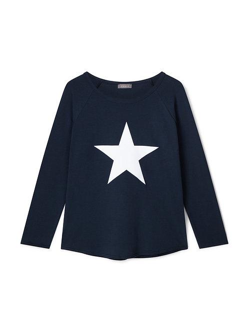 Chalk Tasha Top - Navy/White Star