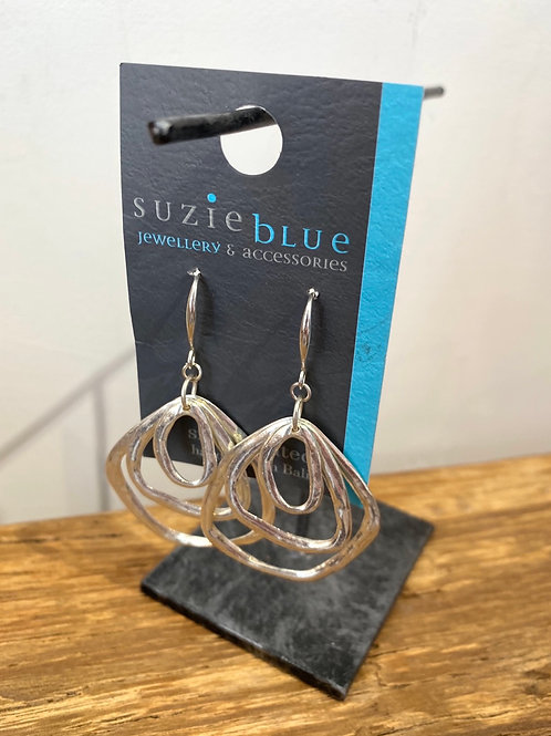 Silver Plated Multiple Ring Earrings