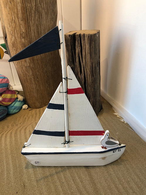 Handmade Wooden Sailboat