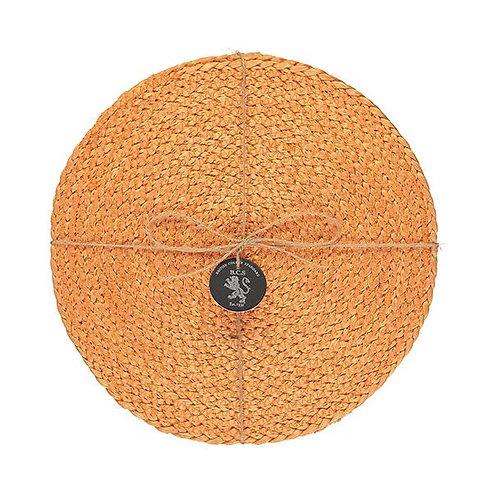 Orange Jute Placemats (Set of 4)