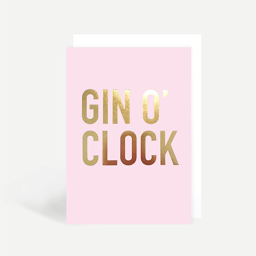 'Gin O'Clock' Card