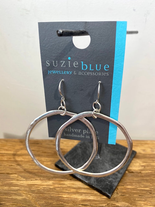 Silver Plated Large Ring Earrings
