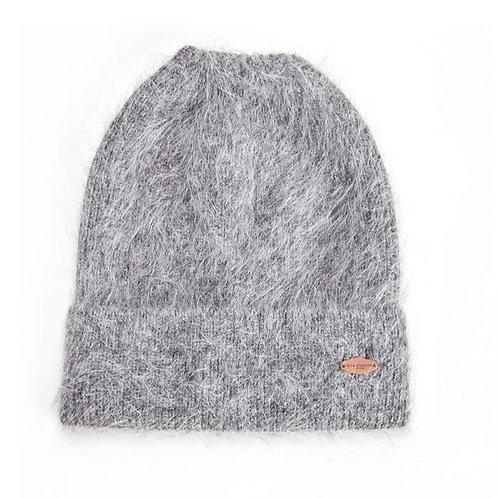 Verona Angora Hat - Charcoal