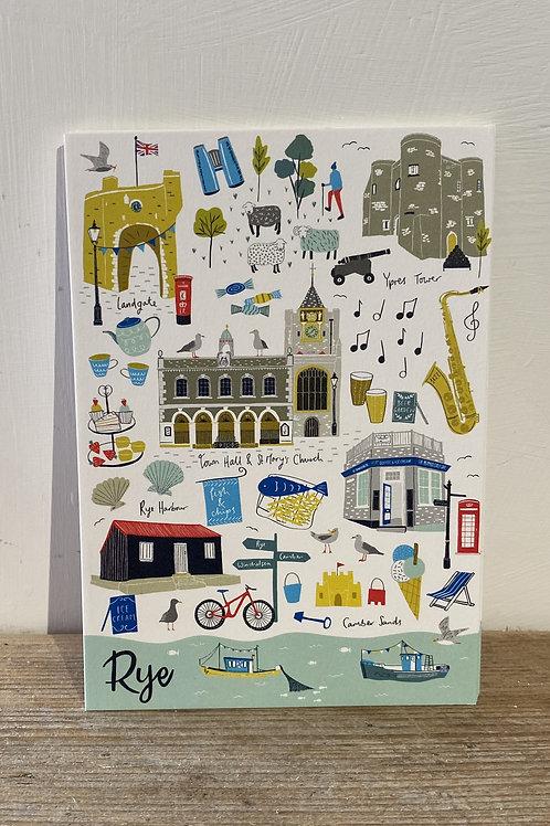 Rye Landmarks Postcard