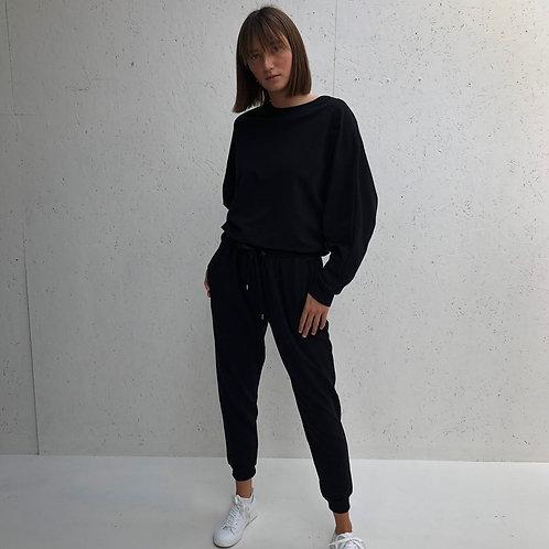 Chalk Tess Jog Pant - Black
