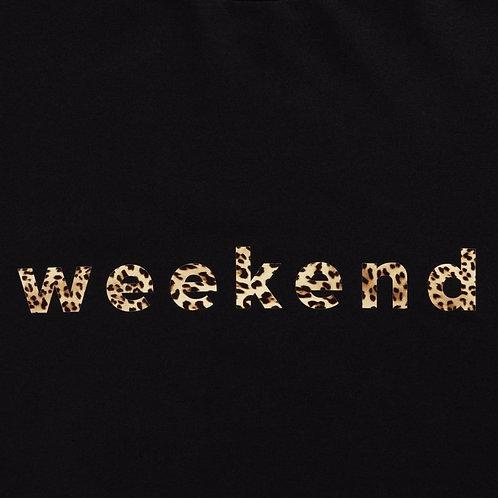 Chalk Robyn Top - Black/Leopard Weekend