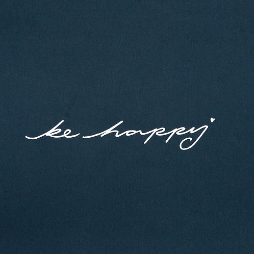 Chalk Tasha Top - Navy/Be Happy