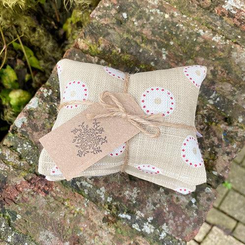 Lavender Drawer Sachets (3) - Dotty Circles