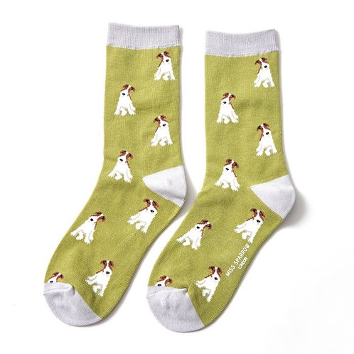 Miss Sparrow Fox Terrier Socks