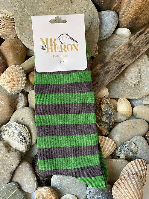 Green Stripes Socks