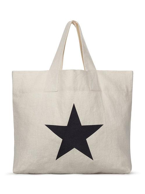 Chalk Shopper Bag - Off White/Star