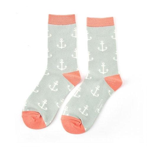 Miss Sparrow Anchors Socks