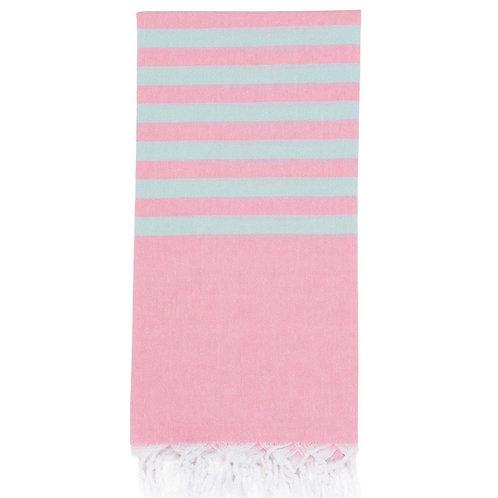 Lightweight Hamam Towel - Light Pink/Ice