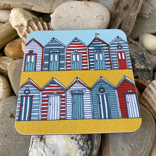 Beach Huts Coaster