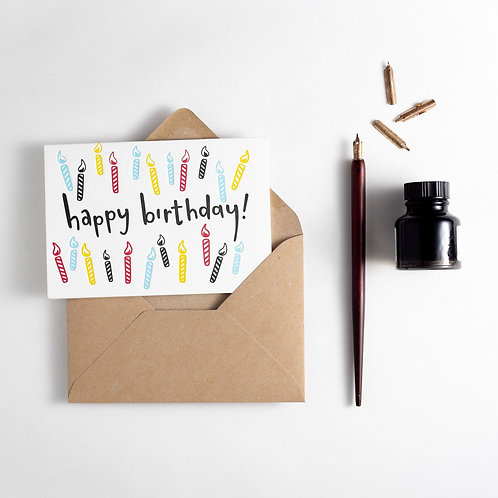 'Happy Birthday' Candles Card