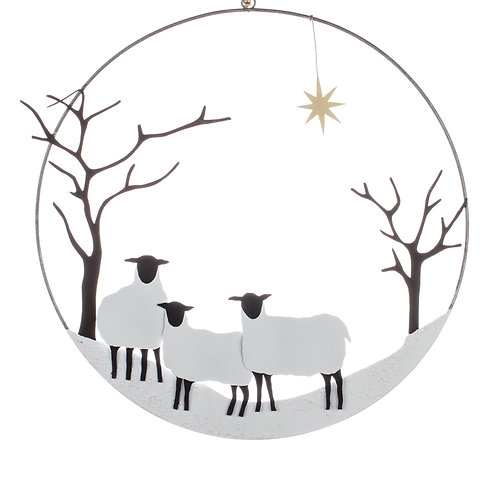 Winter Sheep Wreath