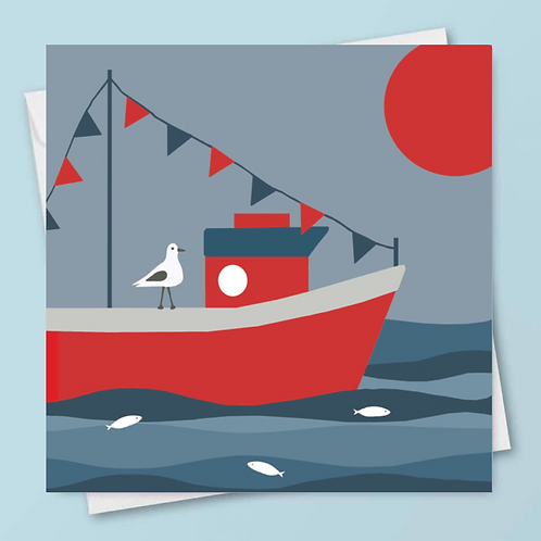 'Fishing Boat' Card