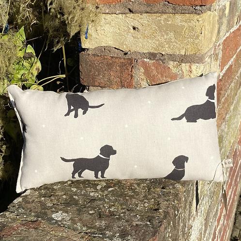 Lavender Cuddle Cushion - Black Labradors