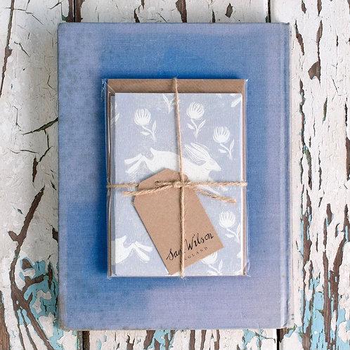 Sam Wilson Notecard Set (5) - Grey Running Hare