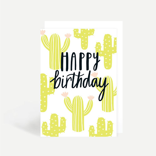 'Cactus Happy Birthday' Card
