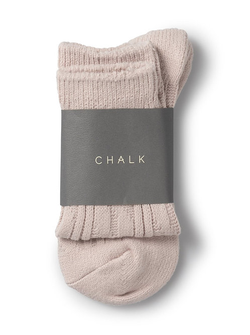 Chalk Cosy Cable Socks - Pink