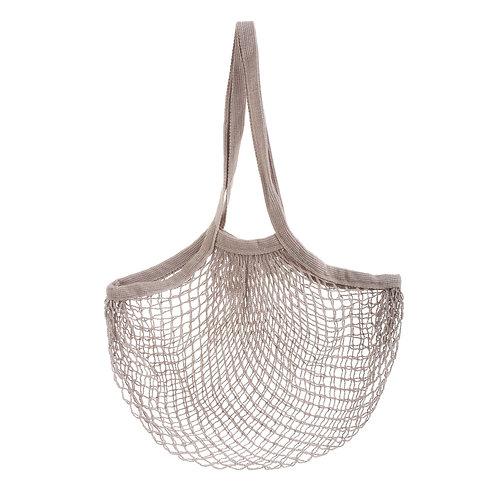 Grey String Shopper Bag