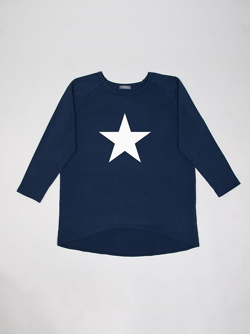 Chalk Robyn Top - Navy/White Star