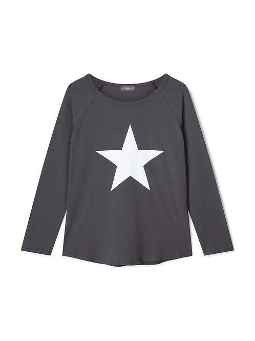 Chalk Tasha Top - Charcoal/White Star