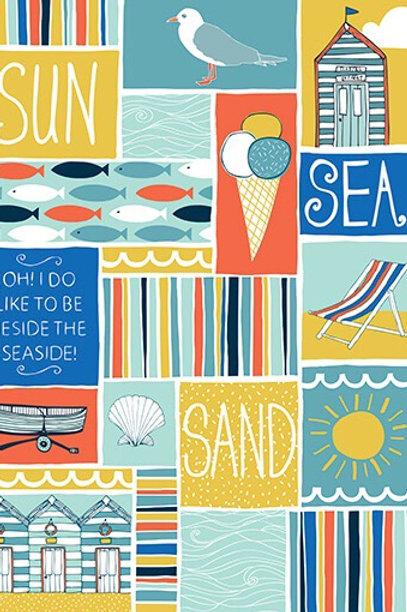 Coastal Patchwork Greetings Card