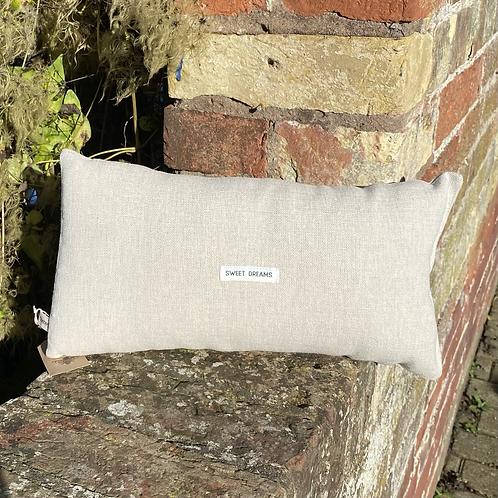 Lavender Cuddle Cushion - Grey Linen