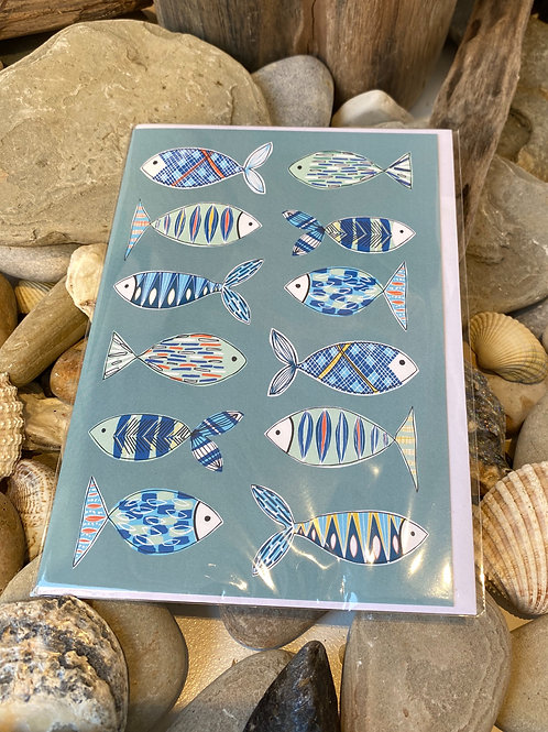 Fish Illustration Greetings Card