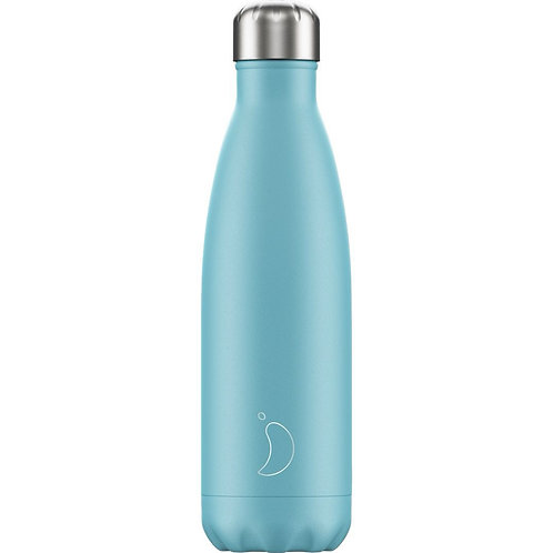 500ml Chilly's Water Bottle - Pastel Blue
