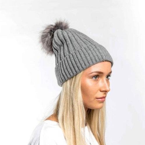 Bobble Hat - Grey