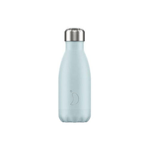 260ml Chilly's Water Bottle - Blush Blue