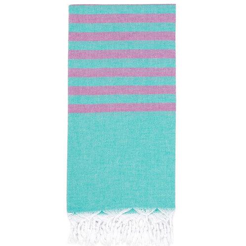 Lightweight Hamam Towel - Jade/Amethyst