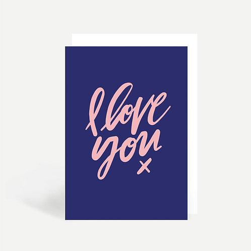 'I Love You Script' Card