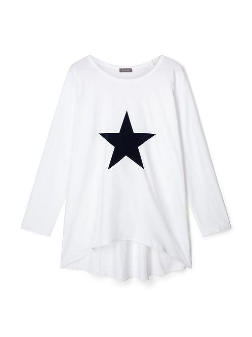 Chalk Robyn Top - White/Navy Star