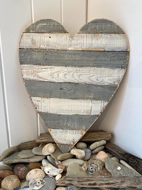 Large Grey Heart Wall Art
