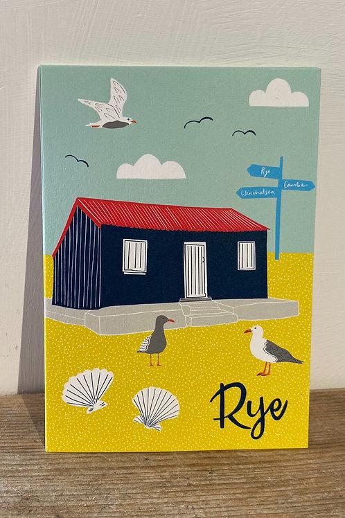 Rye Red Hut Postcard