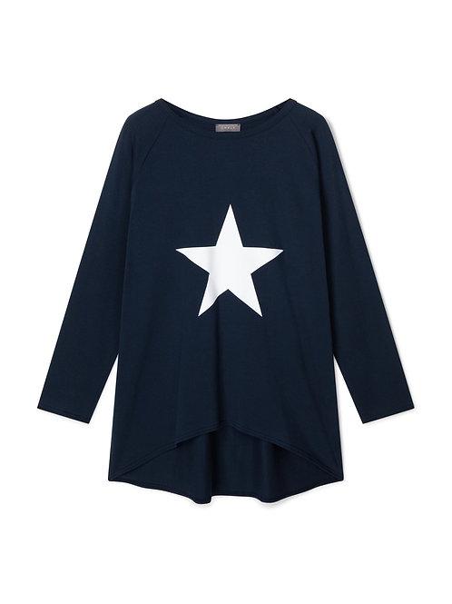 Chalk Robyn Top - Navy/White Star